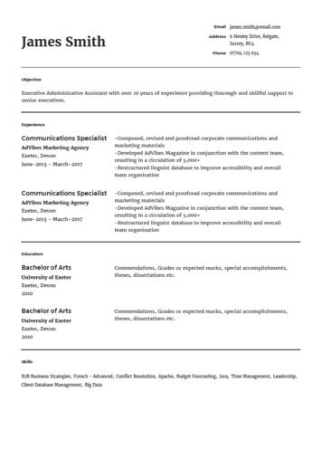 Modelo De Currículum Vitae Para Nutricionista Onlinecv